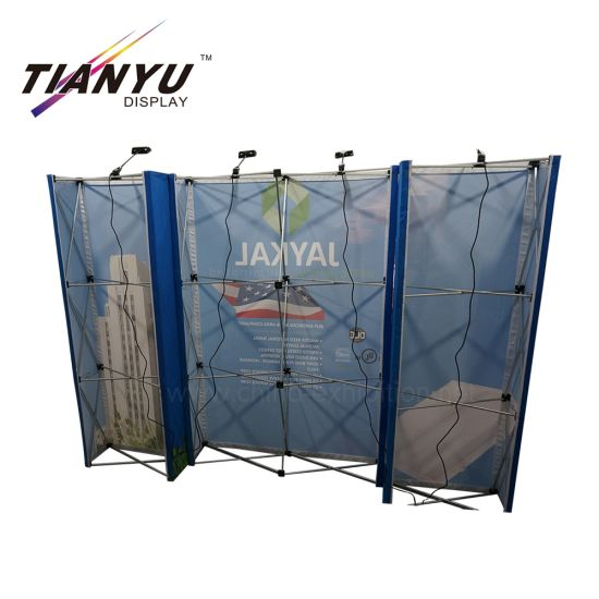 Tragbare Spannungs-Gewebe-Wand Seg Popup Kulisse Display-Messestand