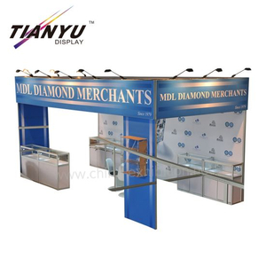 Portable benutzerdefinierte Backlit Kulissen Exhibit Booth Schmuck Messe Displays Supplies