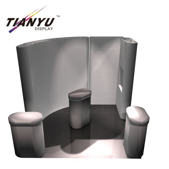Customized Neu Innovative Booth Exhibit-Anzeige 3D-Pop Stand up Banner Display-