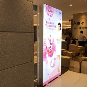 Chain Store Dekoration Großhandel Photo Booth Double Side Clothing Store Rahmenlose LED Light Box